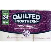 Quilted Northern Bathroom Tissue, Unscented, Double, 3-Ply