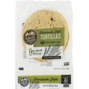La Tortilla Factory Handmade Style Tortillas Corn & Wheat Hatch Green Chile