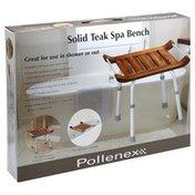 Pollenex Spa Bench, Solid Teak