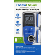 AccuRelief Pain Relief Device, Wireless 3-in-1