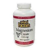 Natural Factors Magnesium Citrate 150 mg Capsules