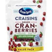 Ocean Spray Dried Cranberries Reduced Sugar Value Pack