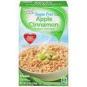 Great Value Sugar Free Apple Cinnamon Instant Oatmeal
