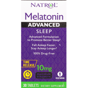 Natrol Melatonin, Maximum Strength, 10 mg, Tablets, Advanced, Sleep
