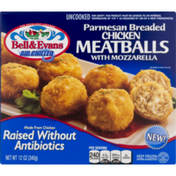 Bell & Evans Chicken Meatballs with Mozzarella, Parmesan, Breaded
