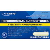 CareOne Hemorrhoidal Suppositories