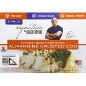 Signature Almandine Crusted Cod, Citrus Herb Marinated, 2 Pack