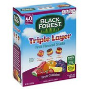 Black Forest Fruit Flavored Snacks, Triple Layer, Fruit Collision