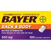 Bayer Back & Body, Extra Strength, 500 mg, Caplets