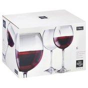 Libbey Glasses, Round Wine, Oversize, 18.25 oz