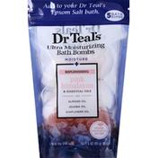 Dr. Teal's Bath Bombs, Moisture + Replenishing Pink Himalayan