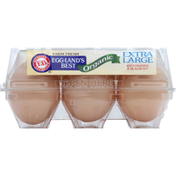 Eggland's Best Eggs, Organic, Brown, Cage Free, Extra Large
