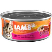 IAMS Adult Pate with Tender Beef Cat Food