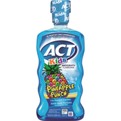 ACT Fluoride Rinse, Anticavity, Alcohol Free, Pineapple Punch, Kids