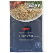 Hy-Vee Chicken Flavored Rice & Pasta Blend In A Savory Chicken Flavored Sauce