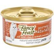 Purely Fancy Feast Gourmet Naturals Grain Free Alaskan Salmon Pate Adult Canned Wet Cat Food