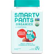 SmartyPants Daily Organic Gummy Toddler and Kids Multivitamin: Vitamin C, D3 & Zinc for Immunity, Biotin, Omega 3, B6, Methyl B12 for Energy by