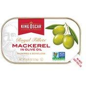King Oscar Skinless/Boneless in Olive Oil Mackerel