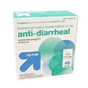 Up&Up Anti-diarrheal Loperamide Hydrochloride Tablets, 2 Mg