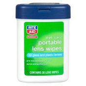 Rite Aid Pharmacy Lens Wipes, Tote-Along, 30 wipes