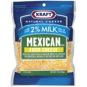 Kraft Mexican Style Four Cheese W/2% Milk Shredded Cheese