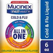 Mucinex® Fast-Max Maximum Strength All-In-One Cold & Flu, Orange & Pineapple Liquid