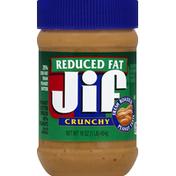 Jif Peanut Butter Spread, Reduced Fat, Crunchy