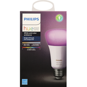 Philips Bulb, Single A19, White and Color Ambiance
