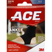 Ace Bakery Ankle Support, Elasto-Preene, SM/M, Mild Support