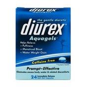 Diurex Aquagels Caffeine Free Diuretic Soft Gel Capsules - 24 CT