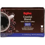 Hy-Vee Medium Roast Coastal Blend 100% Arabica Coffee Single Serves Cups