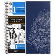 Five Star Notebook, 1 Subject, College Ruled, 100 Sheets