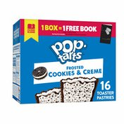Kellogg's Pop-Tarts Toaster Pastries, Breakfast Foods, Baked in the USA, Cookies and Creme