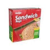 Meijer Re-Closable Double Zipper Sandwich Bags