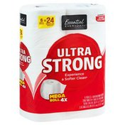 Essential Everyday Bathroom Tissue, Ultra Strong, Mega Roll, Two-Ply