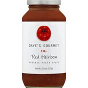 Dave's Gourmet Pasta Sauce, Organic, Red Heirloom