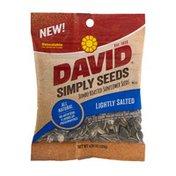 DAVID Seeds Simply Seeds Jumbo Roasted Sunflower Seeds Lightly Salted