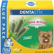 Pedigree Toy/Small Dental Dog Treats Fresh
