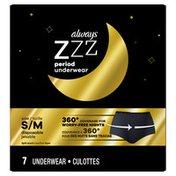 Always ZZZ overnight disposable period underwear for women