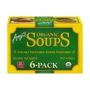 Amy's Kitchen Amy's Organic Soups Lentil Vegetable/Chunky Vegetable - 6 PK