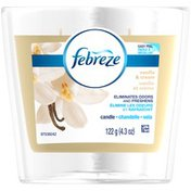 Febreze Candle Febreze CANDLE Air Freshener Vanilla & Cream (1 Count, 4.3 oz) Air Care