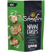 Stonefire Authentic Flatbreads Garlic & Cheese Naan Crisps