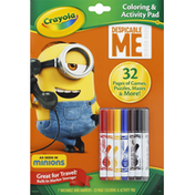 Crayola Coloring & Activity Pad, Despicable Me Minion Made