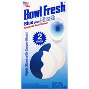 Bowl Fresh Bowl Cleaner, Automatic, Blue Plus Bleach, 2 Pack