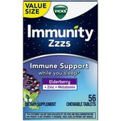 Vicks Immunity Zzzs Support Chewable Tablets