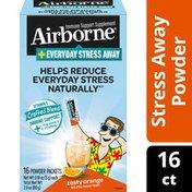 Airborne® Vitamin C 1000mg (per serving) + L-Theanine - Everyday Stress Away Zesty Orange Powder Packet
