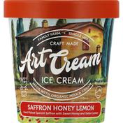 Art Cream Ice Cream, Saffron Honey Lemon