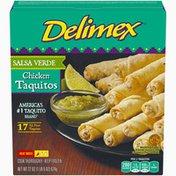 Delimex Salsa Verde Chicken XL Flour Taquitos