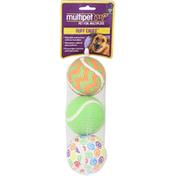 Multipet Dog Toy, Tennis Balls, 2.5 Inch