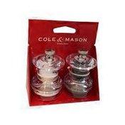 Cole & Mason Button Acrylic Salt & Pepper Mill Set